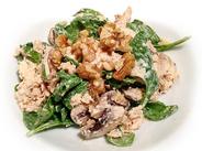 romige zalm spinazie salade - proteïnerijke recepten pakket