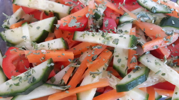 Frisse rauwkost salade